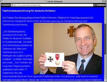 Hohmanns Homepage 2003